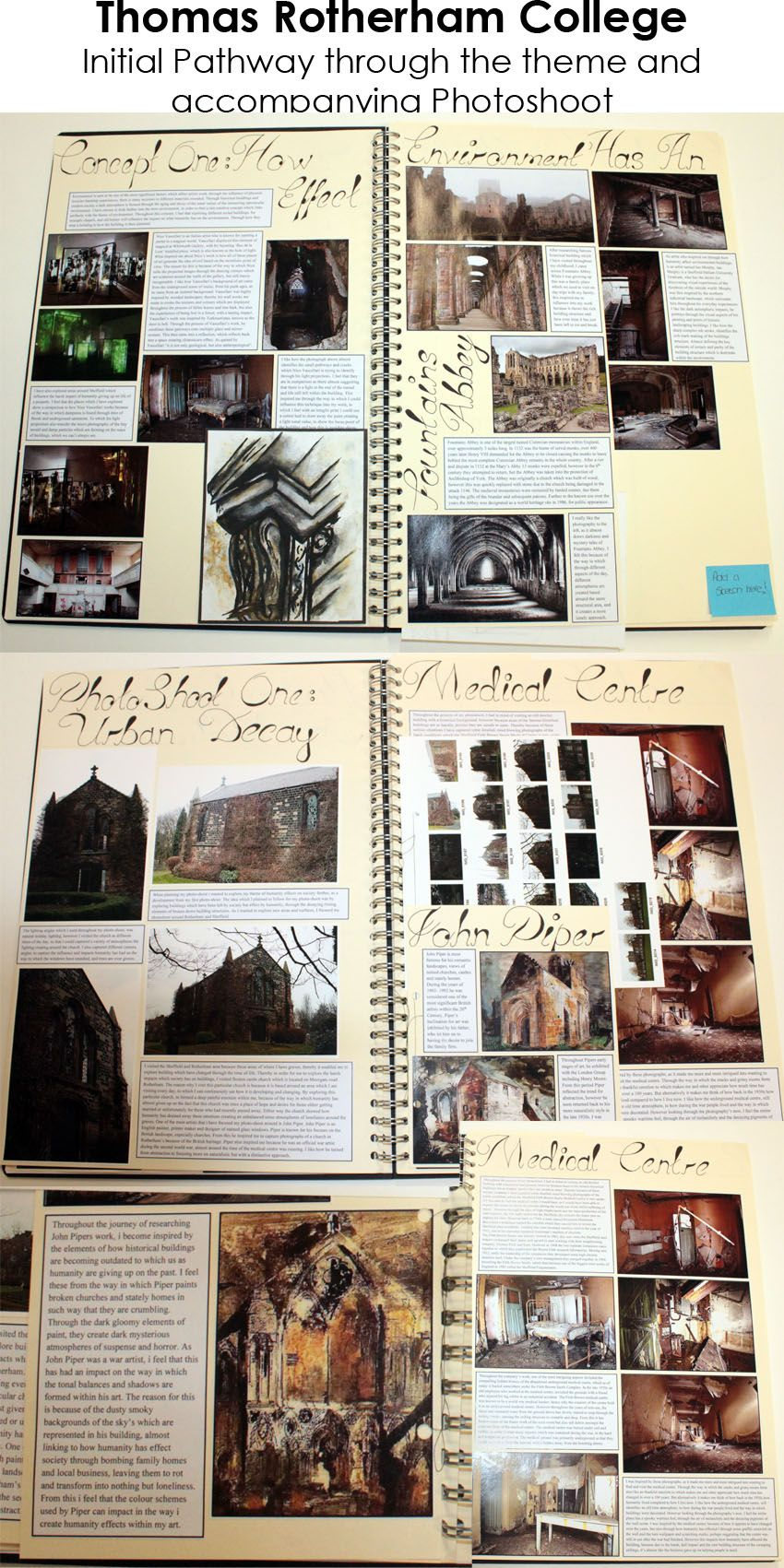 ESA Environment - Initial Pathway and Photo shoot pages. A3 ...