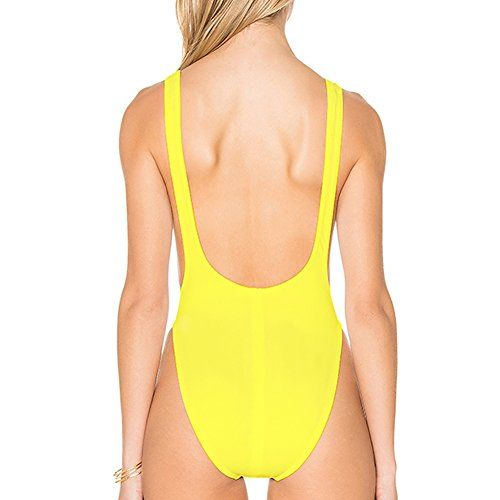 18891f66de Dixperfect 90s Trend One Piece Swimsuit Low Cut Sides Wide Straps High Legs  for Women Buy