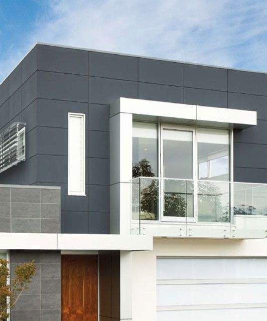 Exterior Cladding Design Ideas: Square Panelled Cladding. Scyon For A Modern Architectural