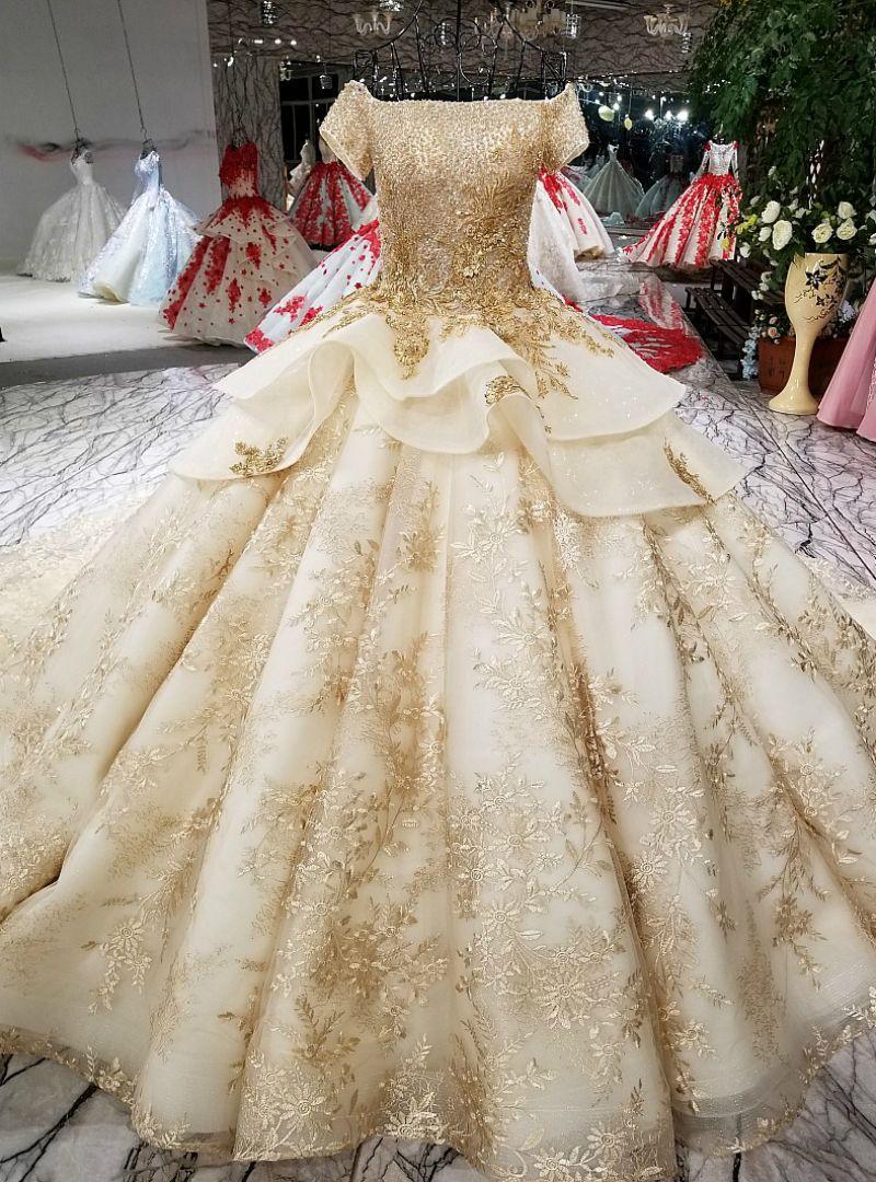 Vestido Hermoso Long Wedding Dresses Ball Gowns Wedding Bridal Gowns Vintage