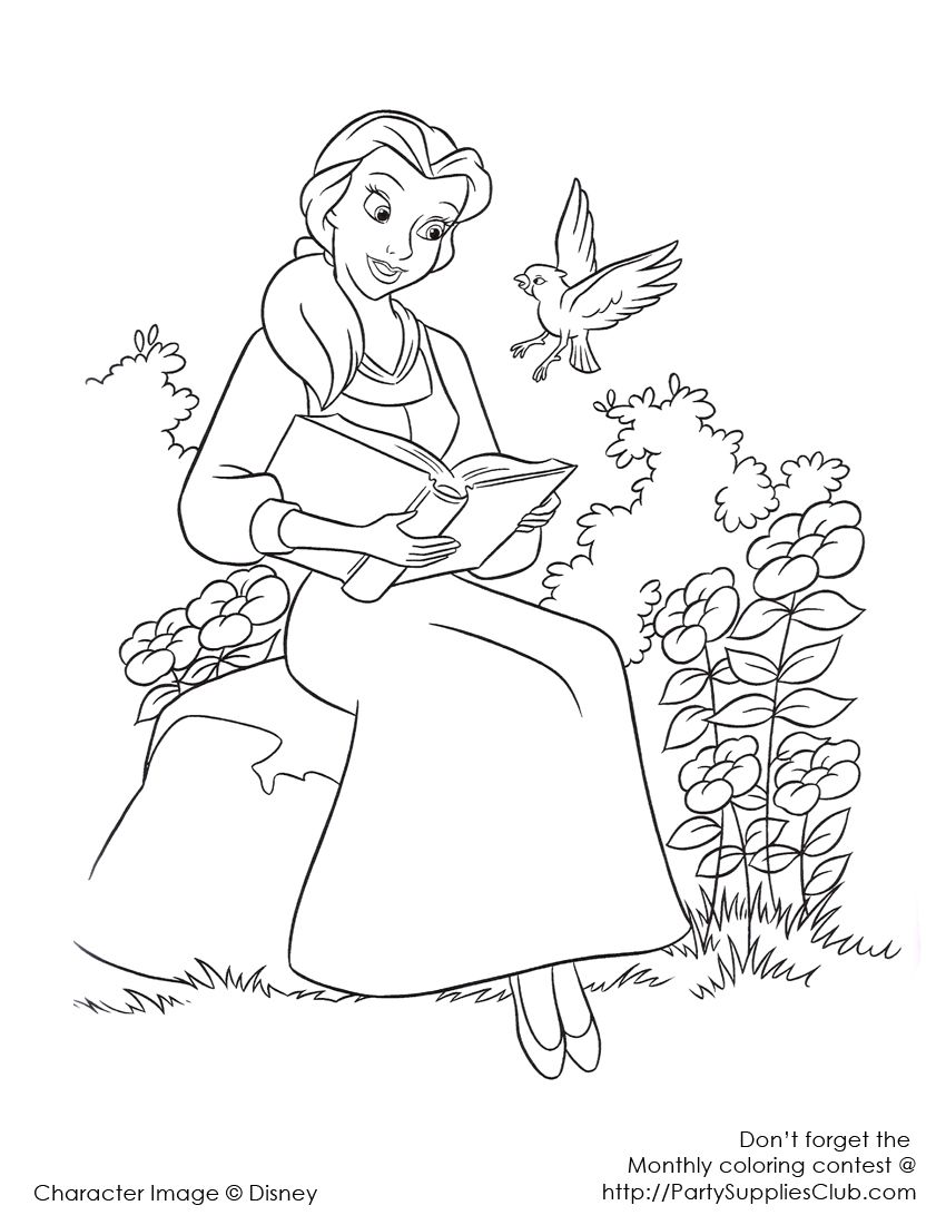 Belle reading Kids 39 Coloring Pages Pinterest Belle