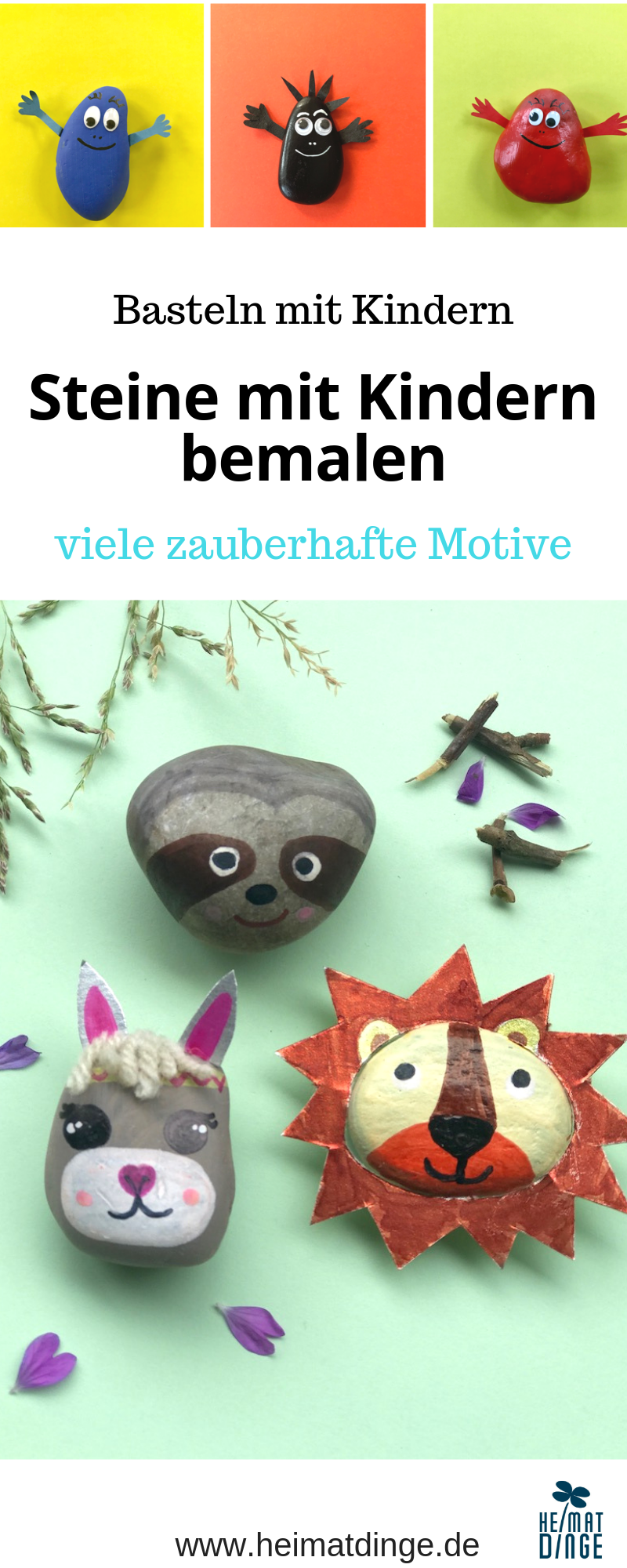 Steine bemalen mit Kindern - viele bezaubernde Motive -
