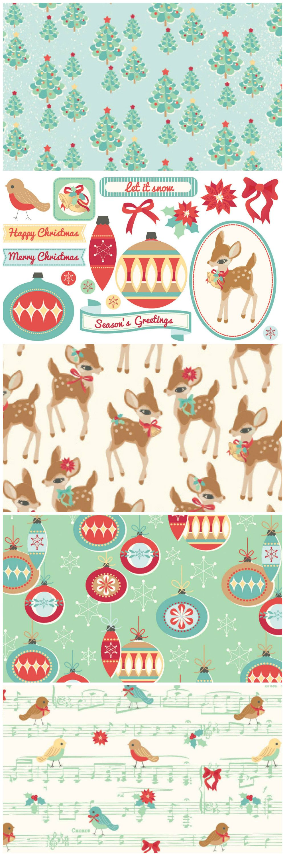 Make beautiful retro Christmas cards using our free digital papers.                                                                                                                                                                                 More