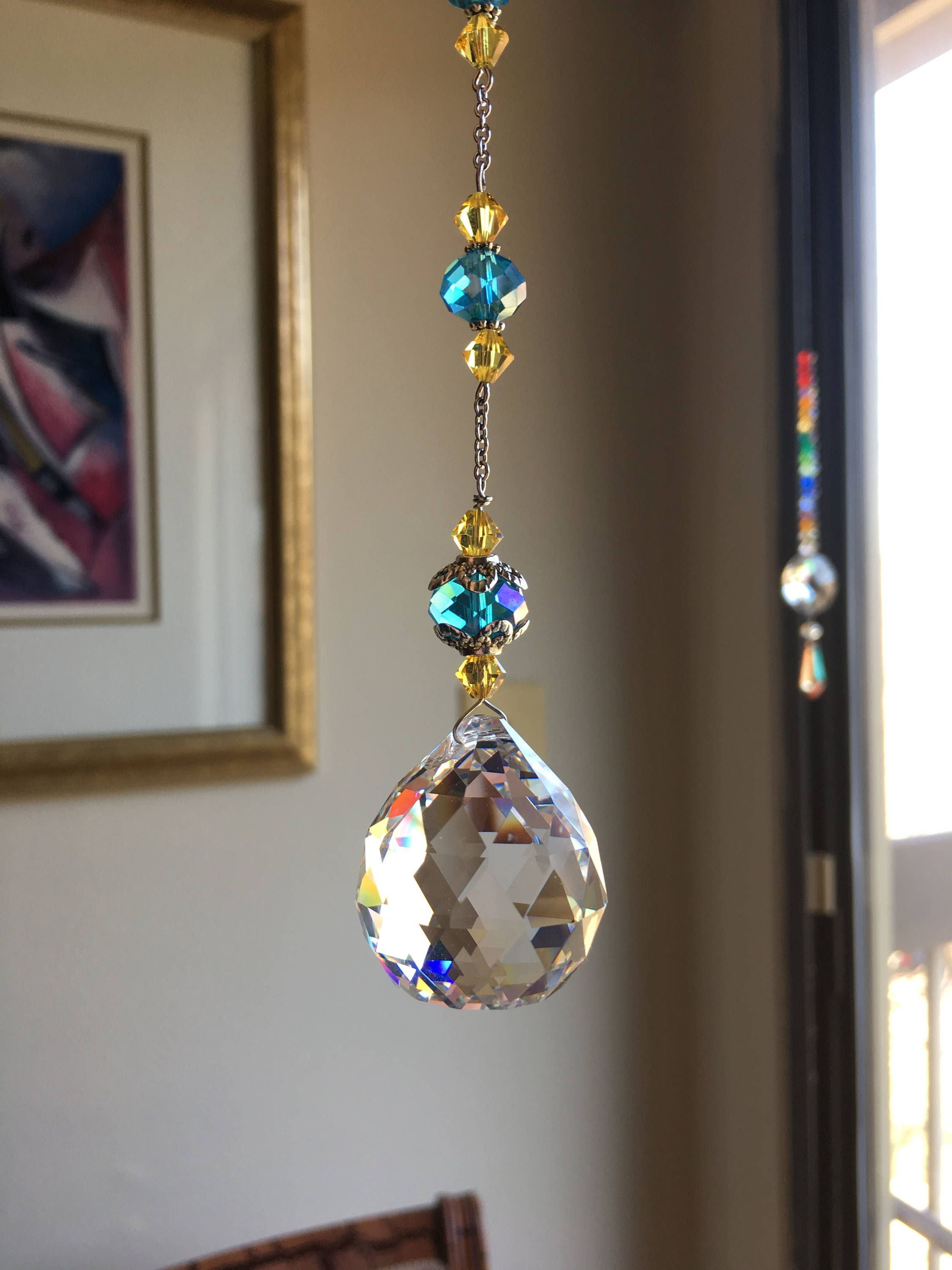 Teardrop Faceted Crystal Glass Ball Window Prism Window Decor