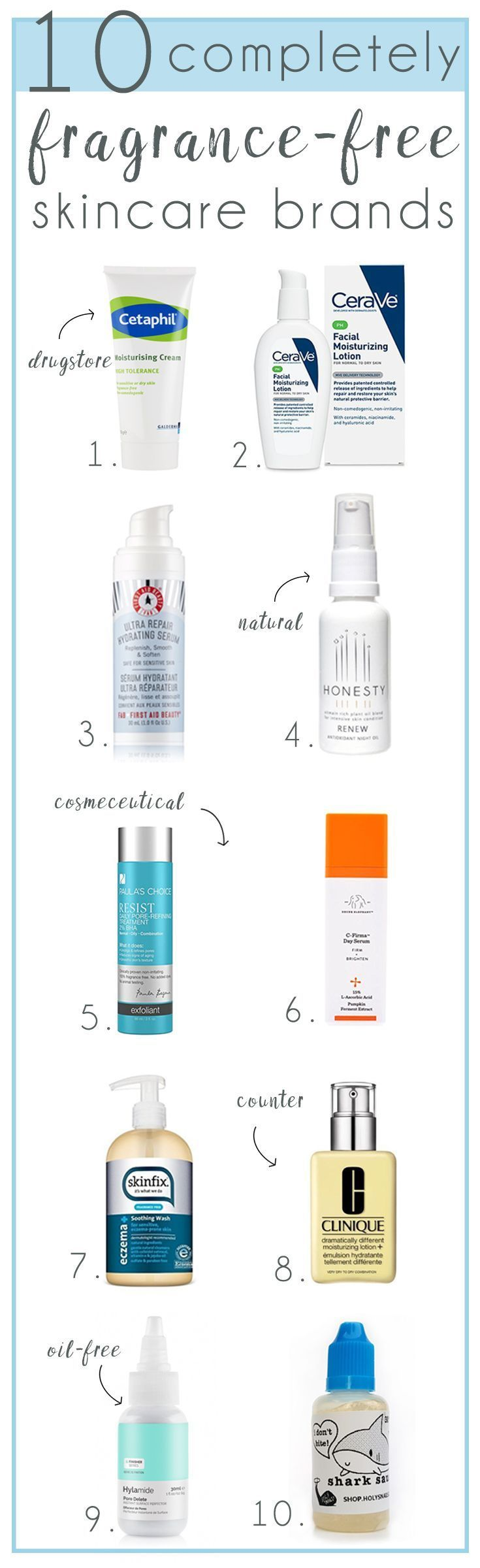 10 Completely Fragrance Free Skincare Brands for
