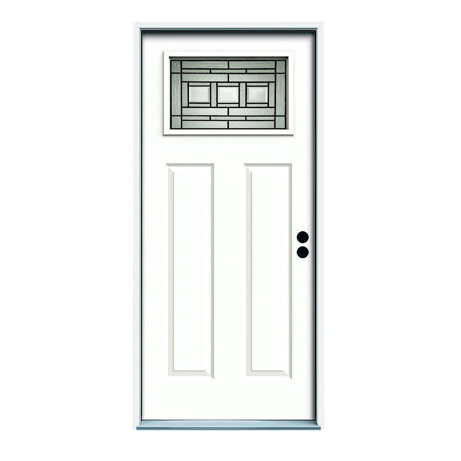 Shop ReliaBilt Reliabilt Craftsman Inswing Steel Entry Door at ...