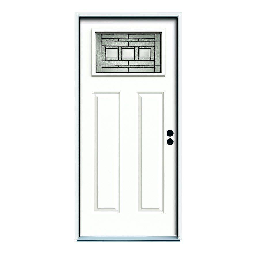 36 In X 80 In Craftsman Left Hand Steel Entry Door Entry Doors Craftsman Exterior Door Craftsman Door