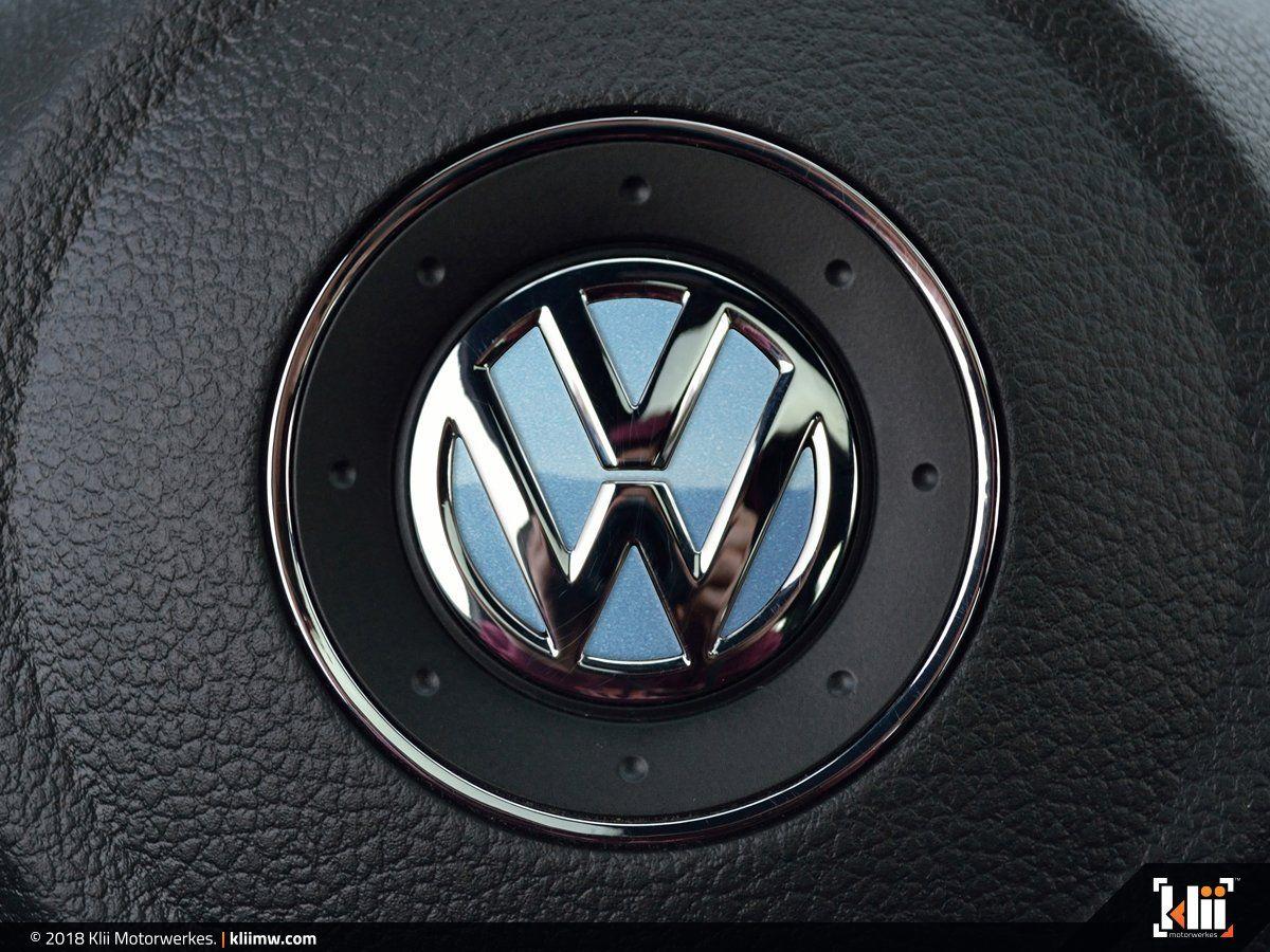 Vw Steering Wheel Badge Insert Shark Blue Metallic Volkswagen