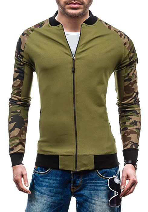 BOLF Herren Sweatshirt Pullover Pulli Rundhals Men Print Langarmshirt 1A1 Motiv