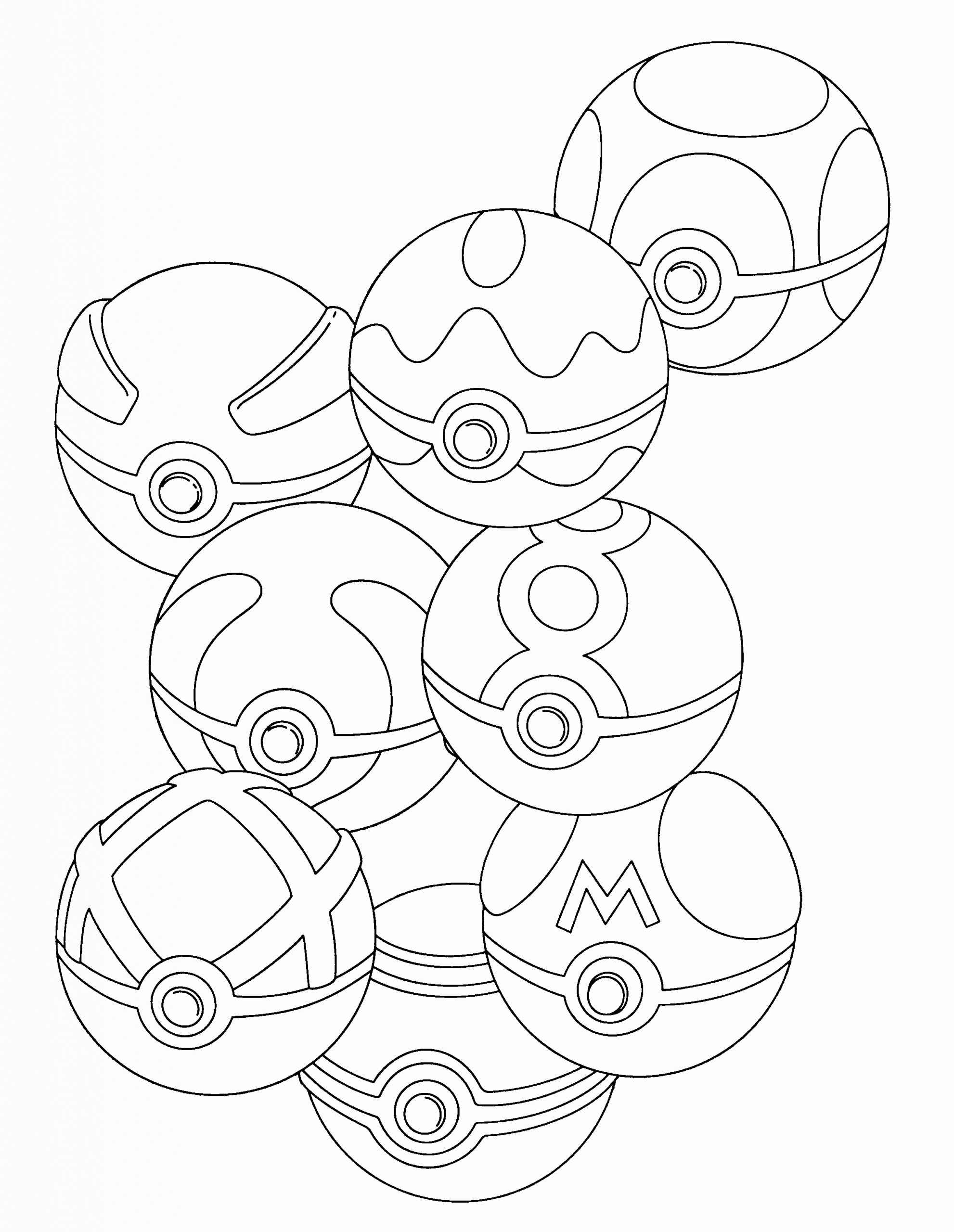 32 Pokemon Ball Coloring Page in 2020 Pokemon coloring