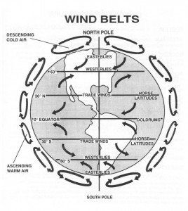 Global Winds Diagram.Global Winds Diagram Unit 8 Climatic Interactions
