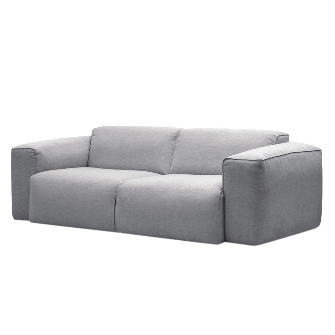 Quelle Sofa sofa hudson 2 sitzer webstoff stoff saia hellgrau jetzt