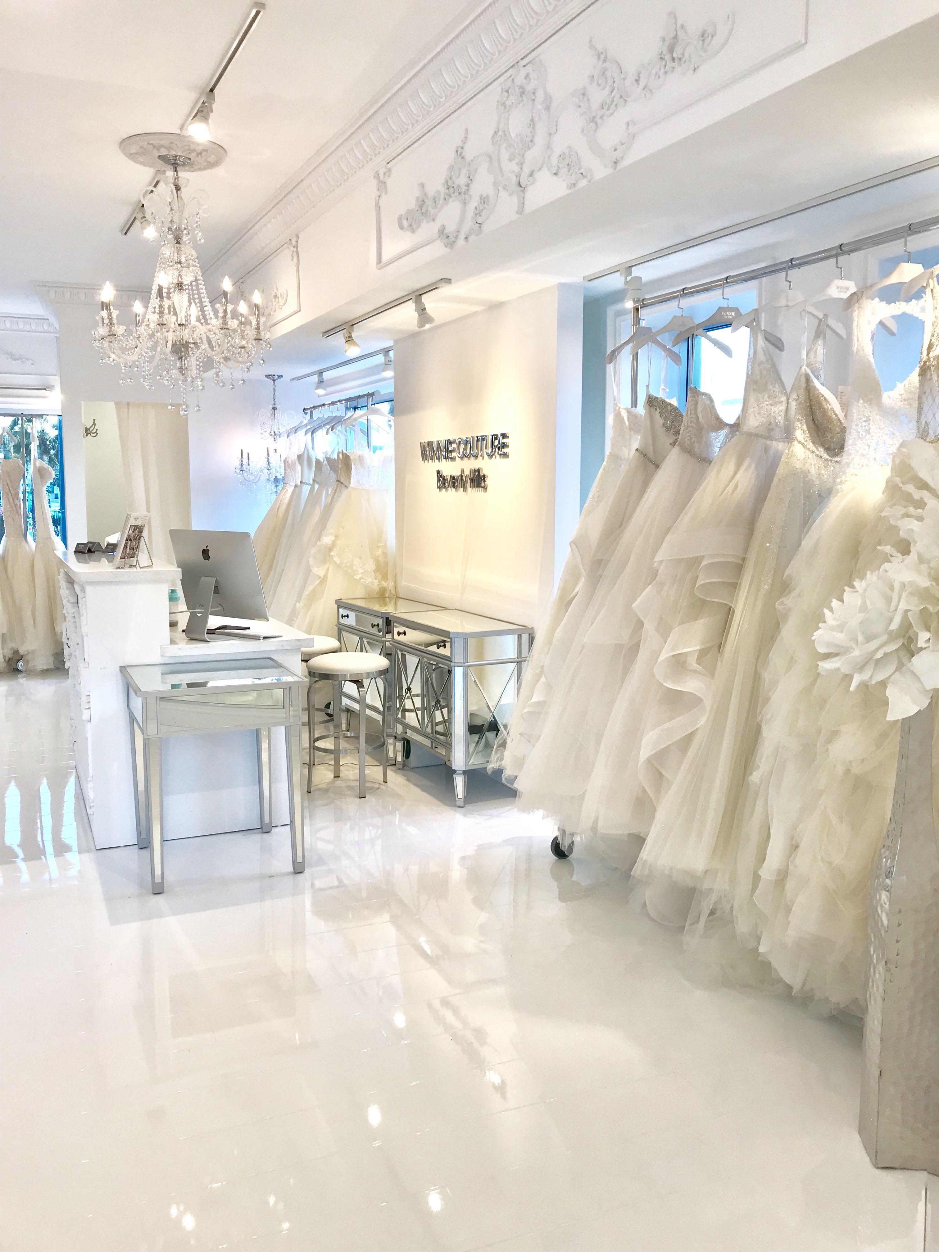 Beverly Hills La Flagship Bridal Shop Winnie Couture Wedding Dress Bridal Shop Interior Bridal Boutique Interior Store Design Interior