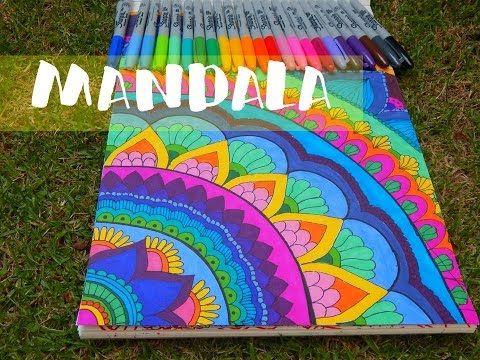 APRENDE A HACER MANDALAS I Mandalas fáciles Como dibujar mandalas