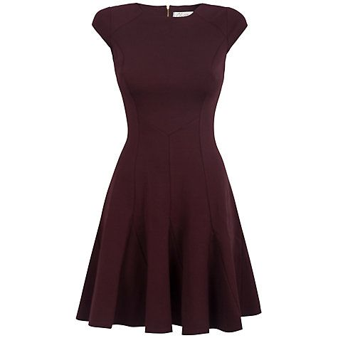 Buy Closet Godet Dress Wine Online At Johnlewis John Lewis