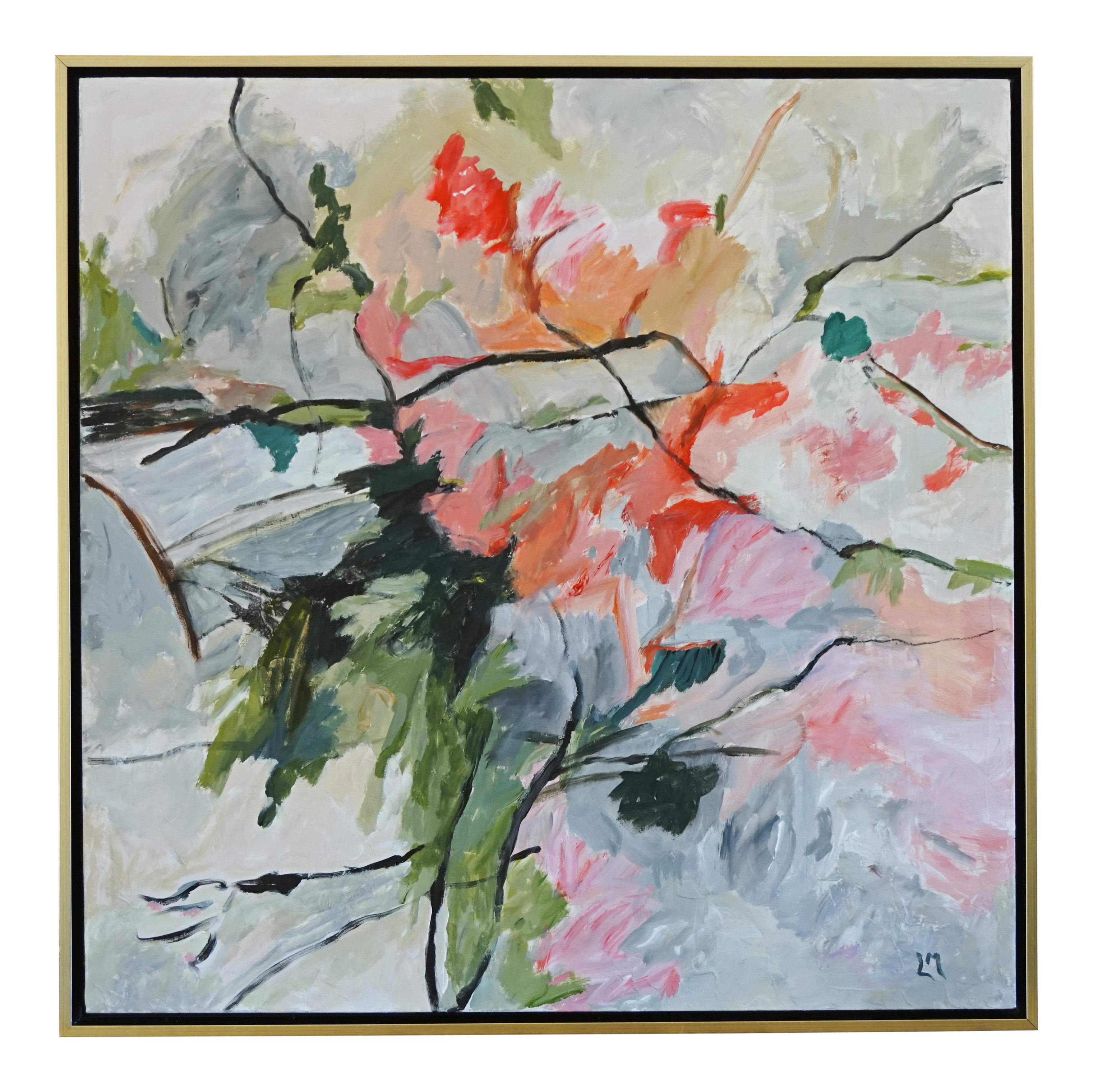 Life Cycle Floral Painting On Chairish Com In 2020 Floral Painting Painting Gestural Painting