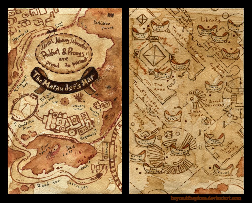 Marauders Map By Beyondthepinesdeviantartcom On At Deviantart