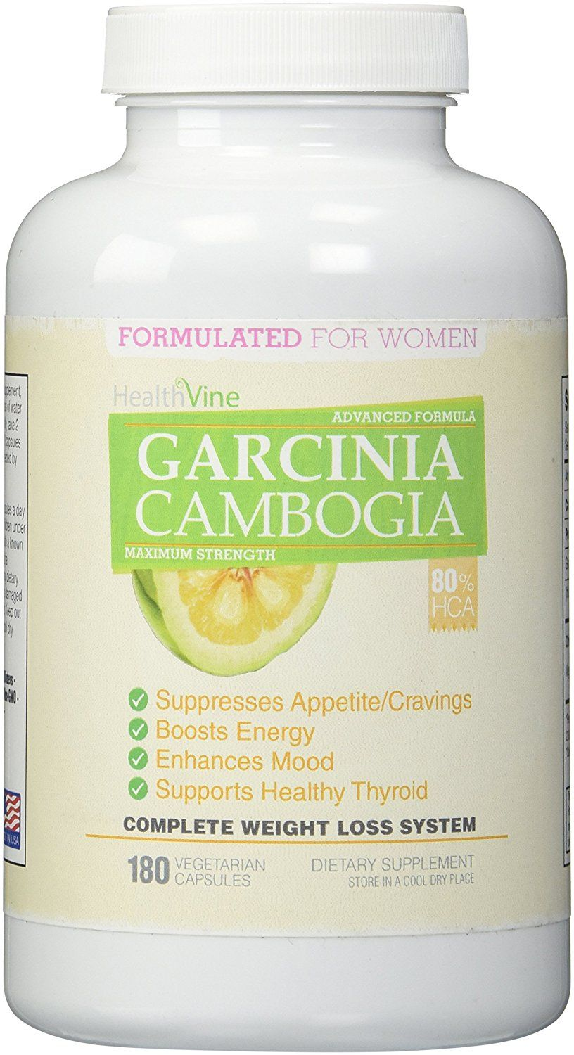 80% HCA MAXIMUM STRENGTH PURE GARCINIA CAMBOGIA EXTRACT FOR WOMEN - 180 vegetarian capsules (45 day supply) - 3,200mg per day ^^ For more information, visit : Garcinia cambogia