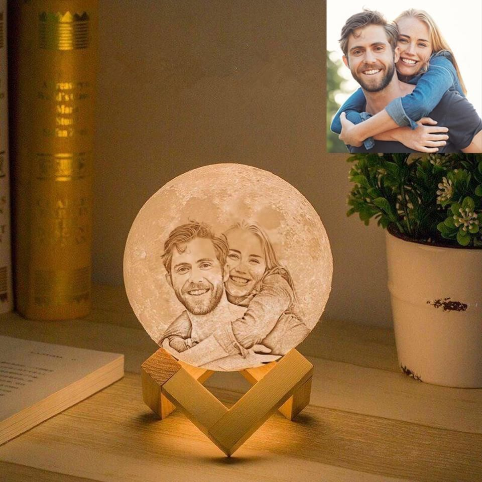 Mond Lampe Mit Eigenem Foto Mond Lampe Diy Geschenke Valentinstag Jahrestag Geschenk Fur Ihn