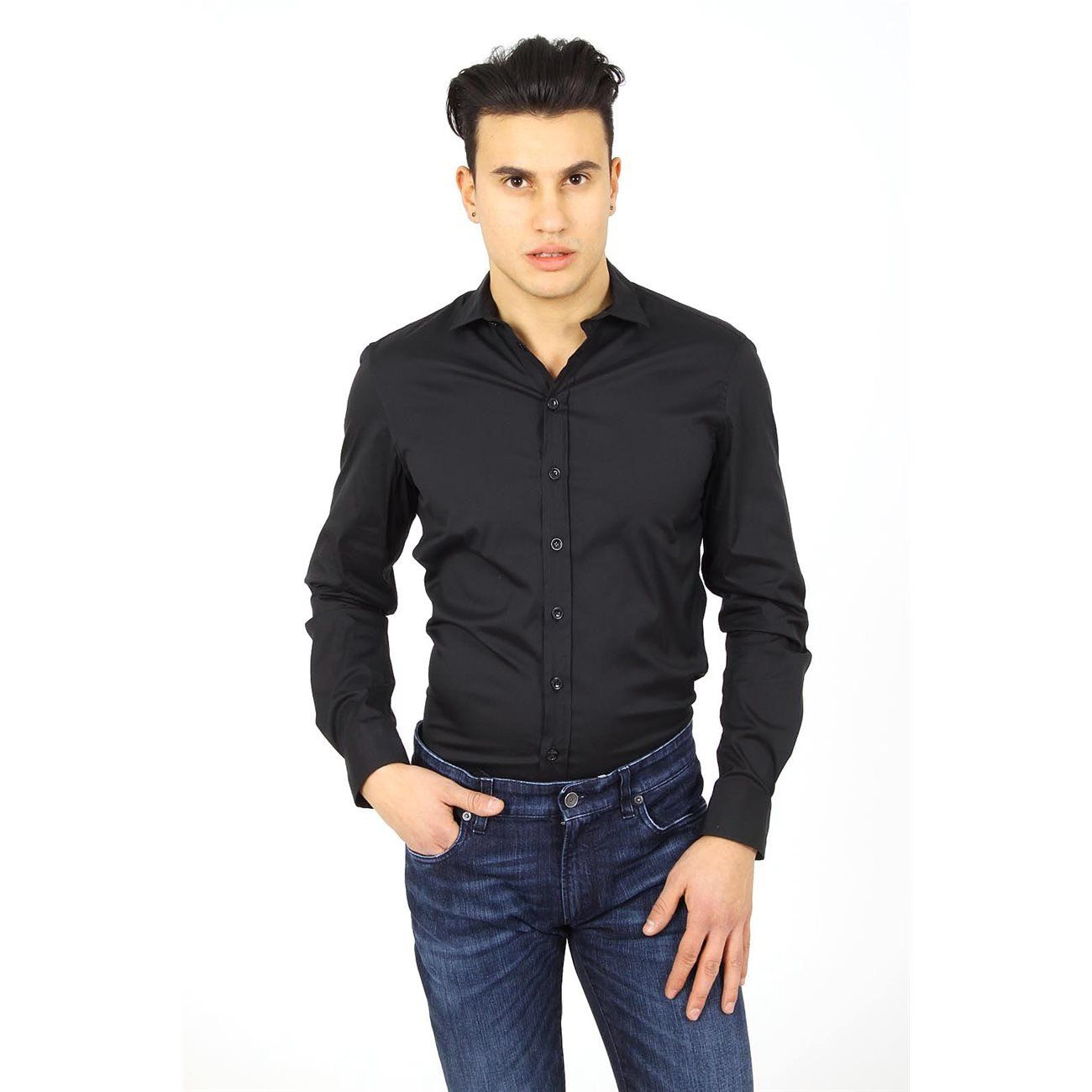 Armani Collezioni Mens Shirt Long Sleeve Rcssdl Rc0f0 999 Armani