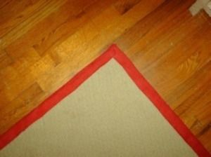 Carpet Remnant With Ribbon Edge