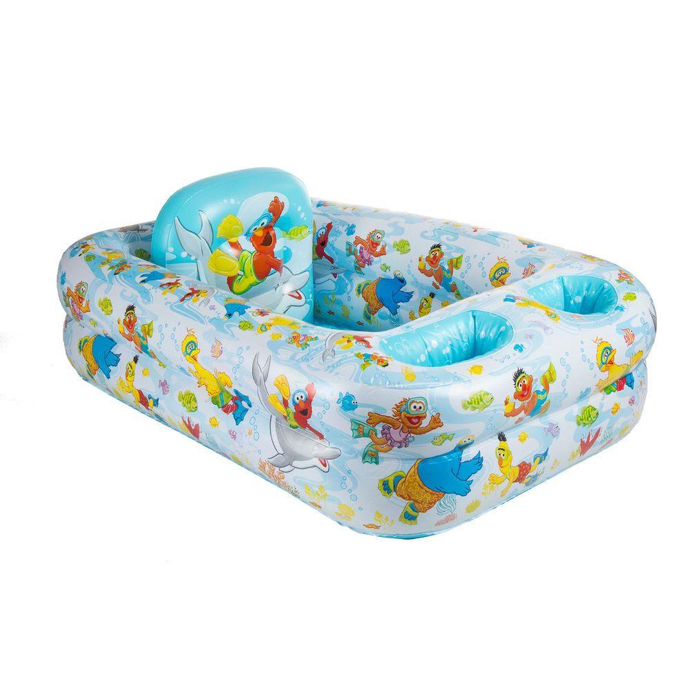 Sesame Street Summer Inflatable Bathtub Toddler Safety