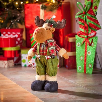 Tabletop Christmas Moose Statue Moose and Tabletop
