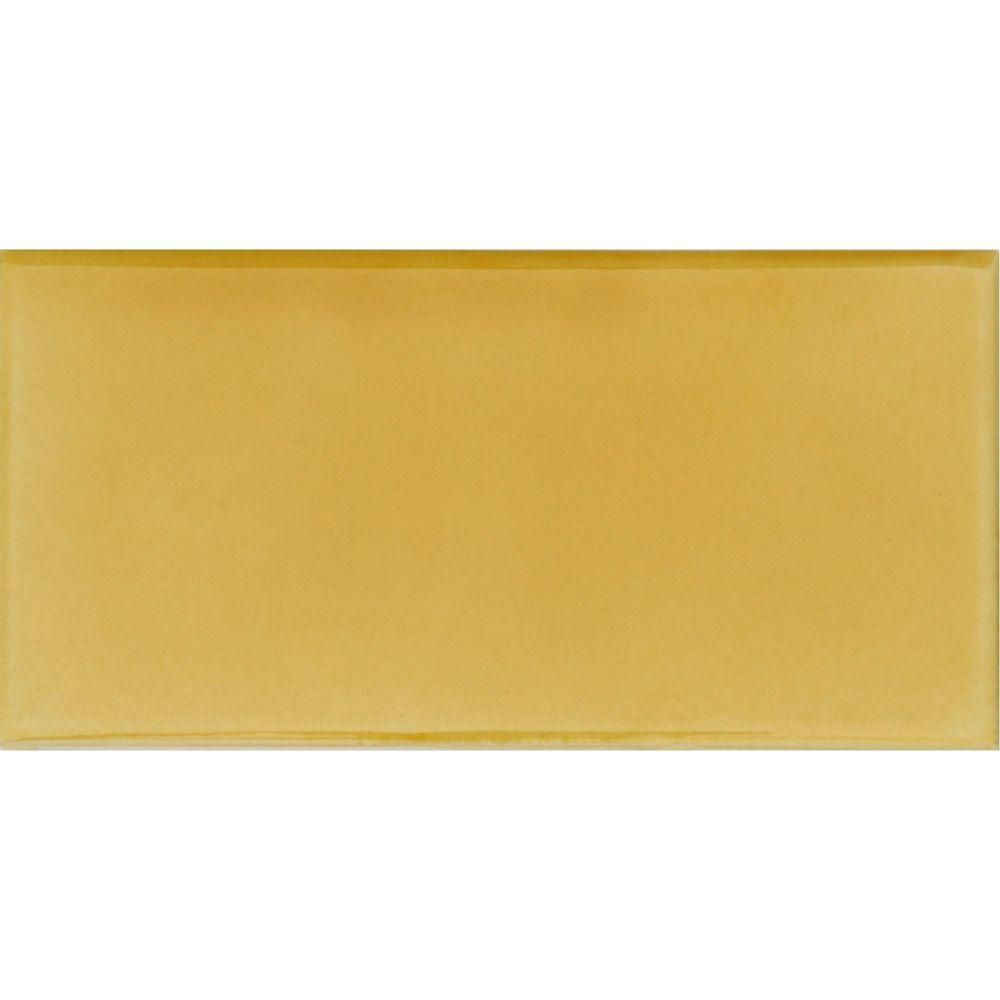 Solistone hand painted sol yellow 3 in x 6 in glazed ceramic wall solistone hand painted sol yellow 3 in x 6 in glazed ceramic wall tile 125 sq ft case sol 3x6 the home depot dailygadgetfo Choice Image