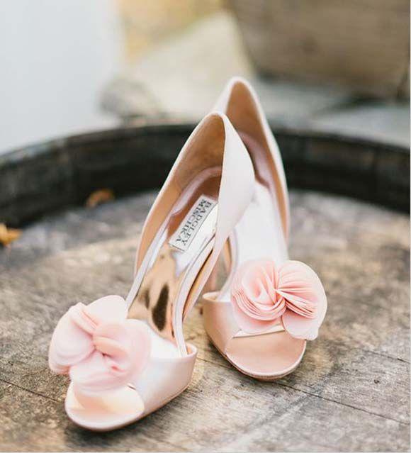 zapatos para novia en rosa palo | zapatos para novia y madrina