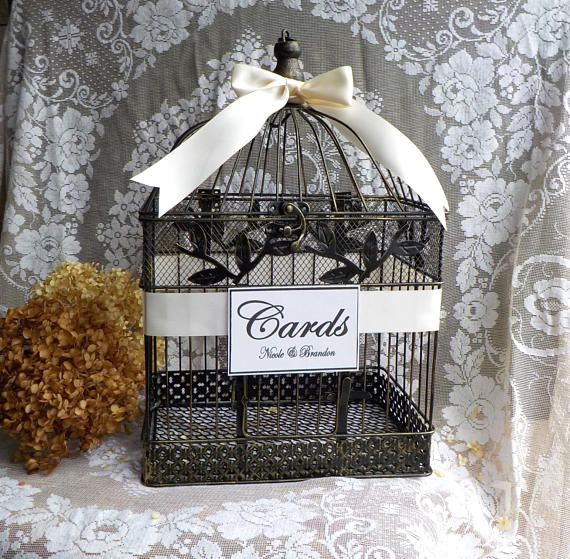 wedding card box wedding card holder bird cage money box