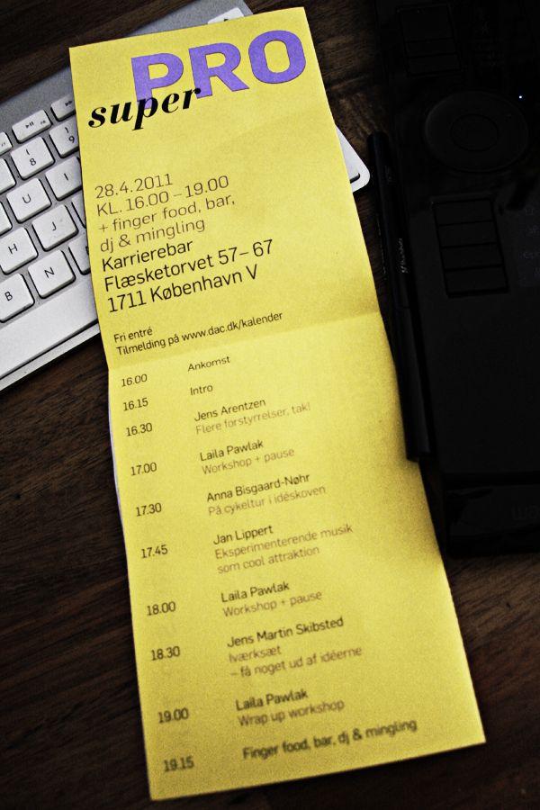 DAC afholder superPRO. Intiativ. Handling. Værdiskabelse. http://thewildpony.com/2011/03/superpro-april11/