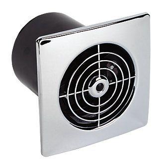 Manrose Lp100st 15w Bathroom Extractor Fan With Timer Chrome 240v Bathroom Extractor Extractor Fans Heating Plumbing