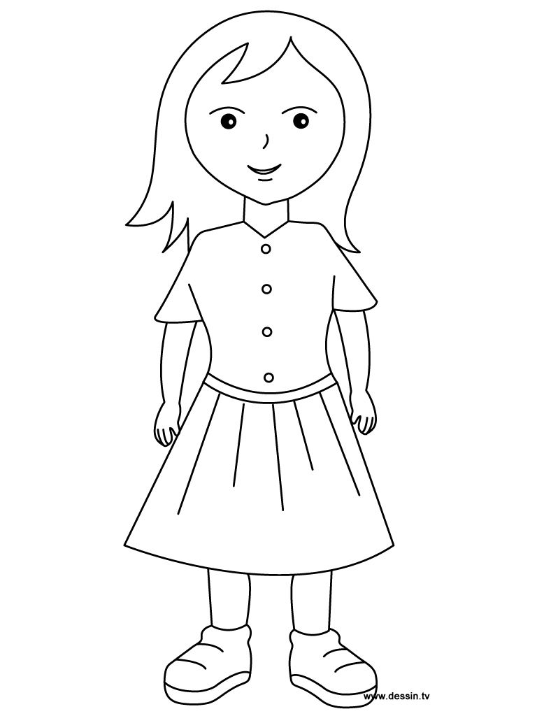 Coloring pages of a girl