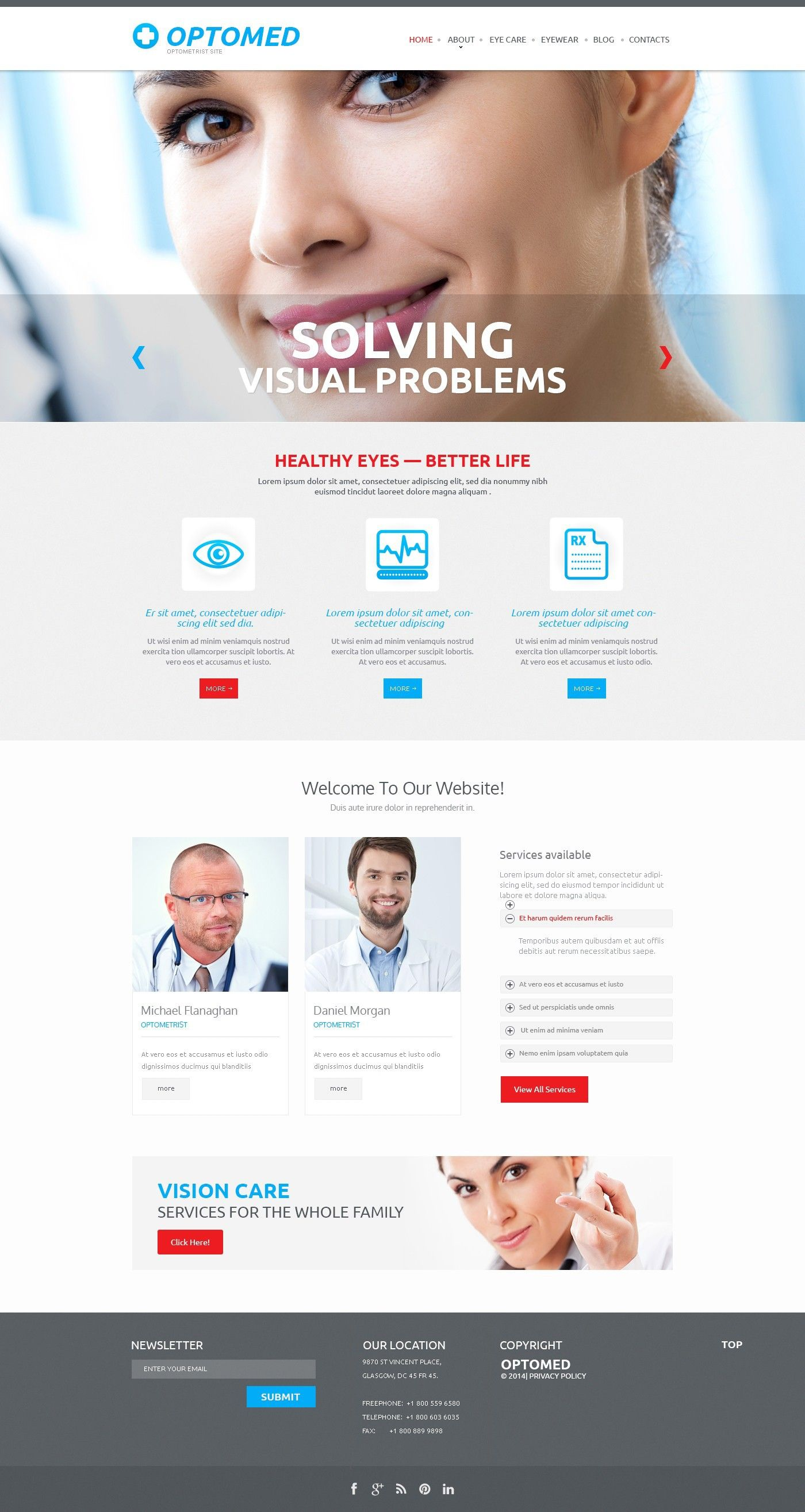 'Optomed Optometrists' static html #webdesign http://zign.nl/48096