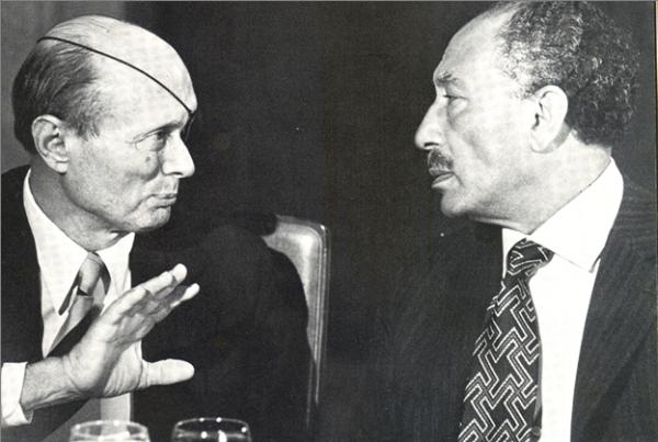 Moshe Dayan Anwar Sadat 1977 President Of Egypt Egypt History Egyptian History