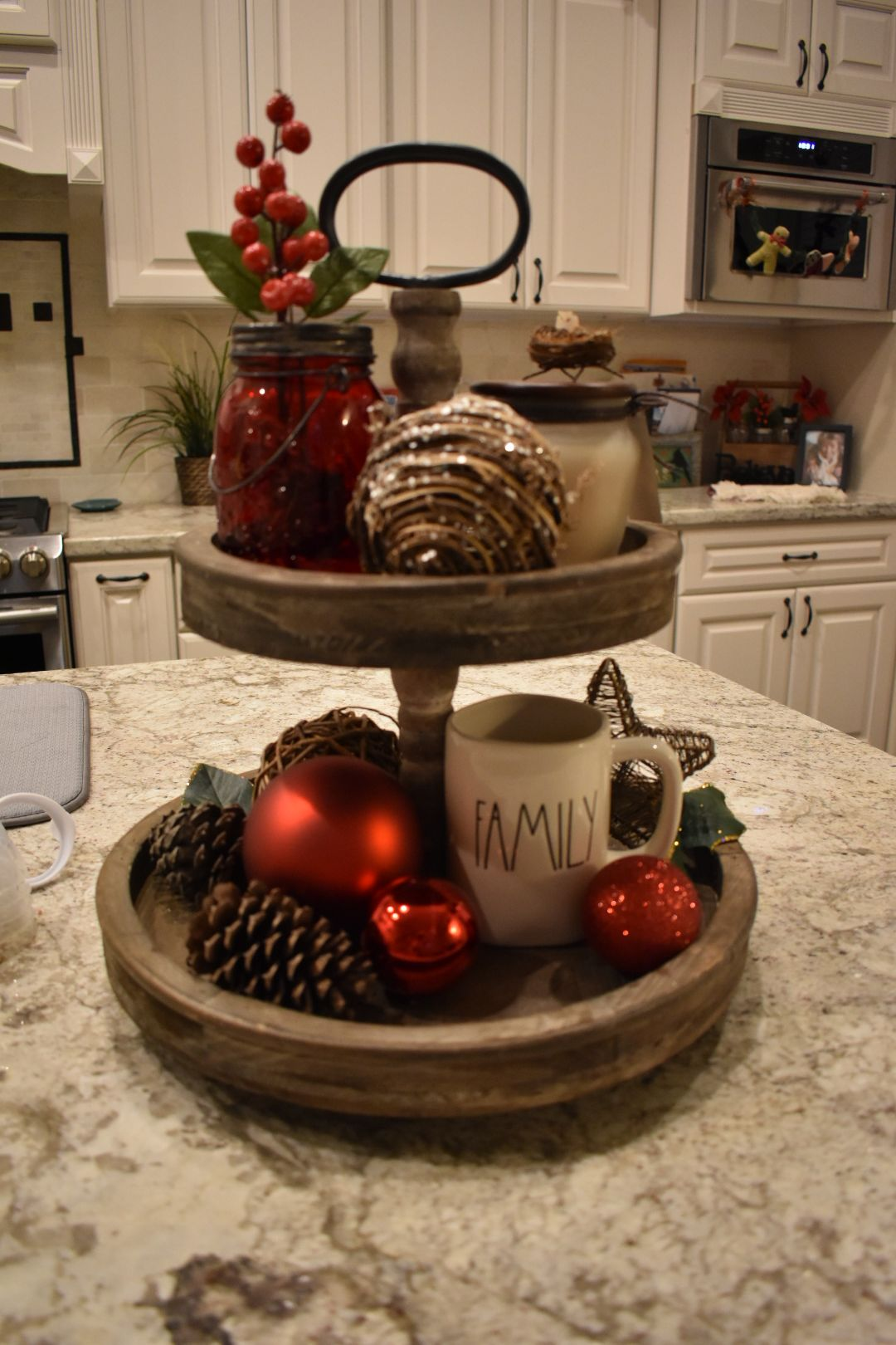 Christmas two-tiered tray | Stuff for My Tiered Tray | Pinterest ...