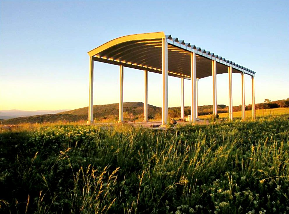Colorado Steel Carport Backyard pavilion, Building