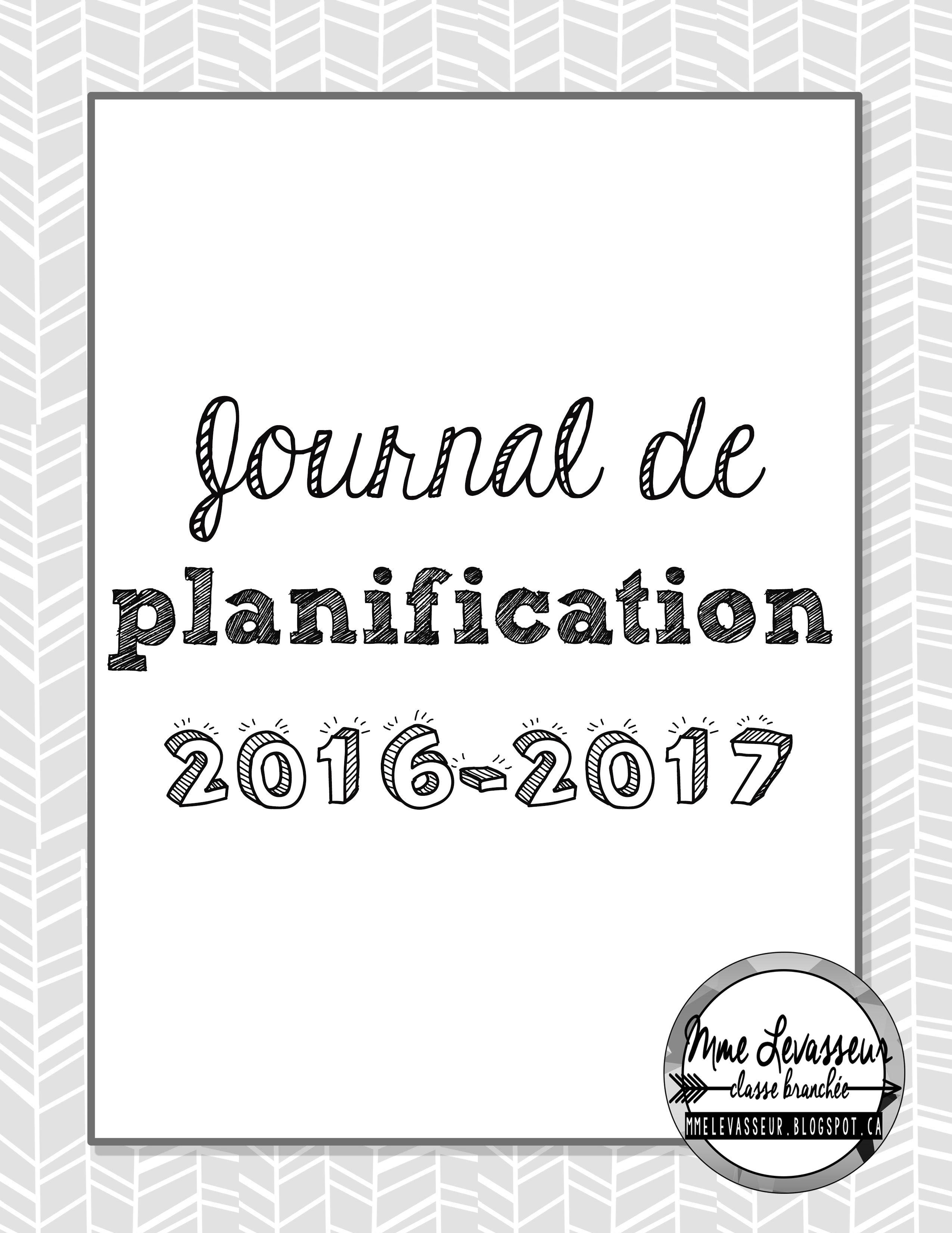 Journal de planification 2016 17 gratuit pour les enseignants - Office pour les enseignant ...