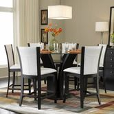 Found it at Wayfair - Daisy 7 Piece Round Counter Height Dining Set