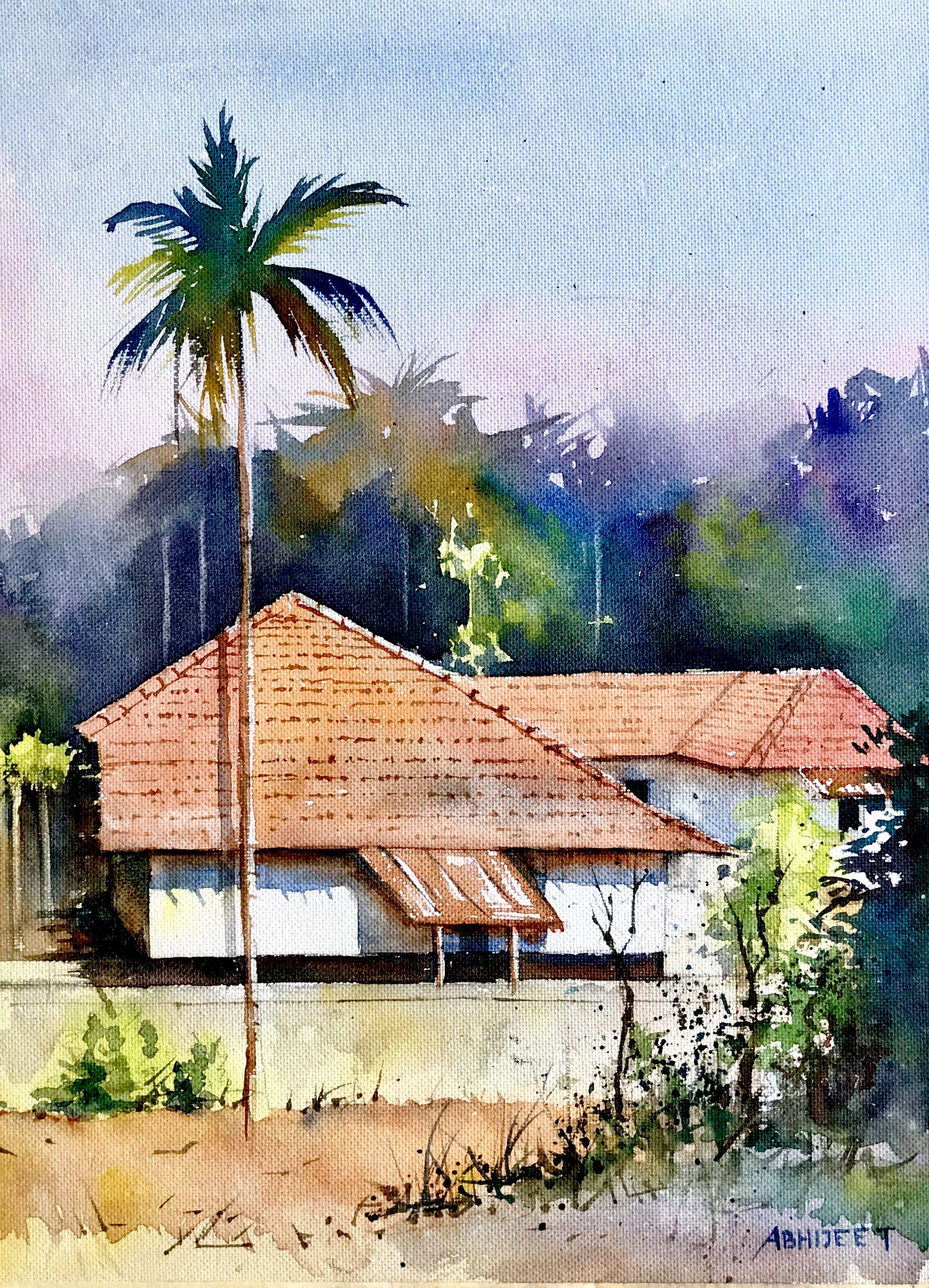 Idea By Abhijeet On Watercolor Landscape Watercolor Scenery