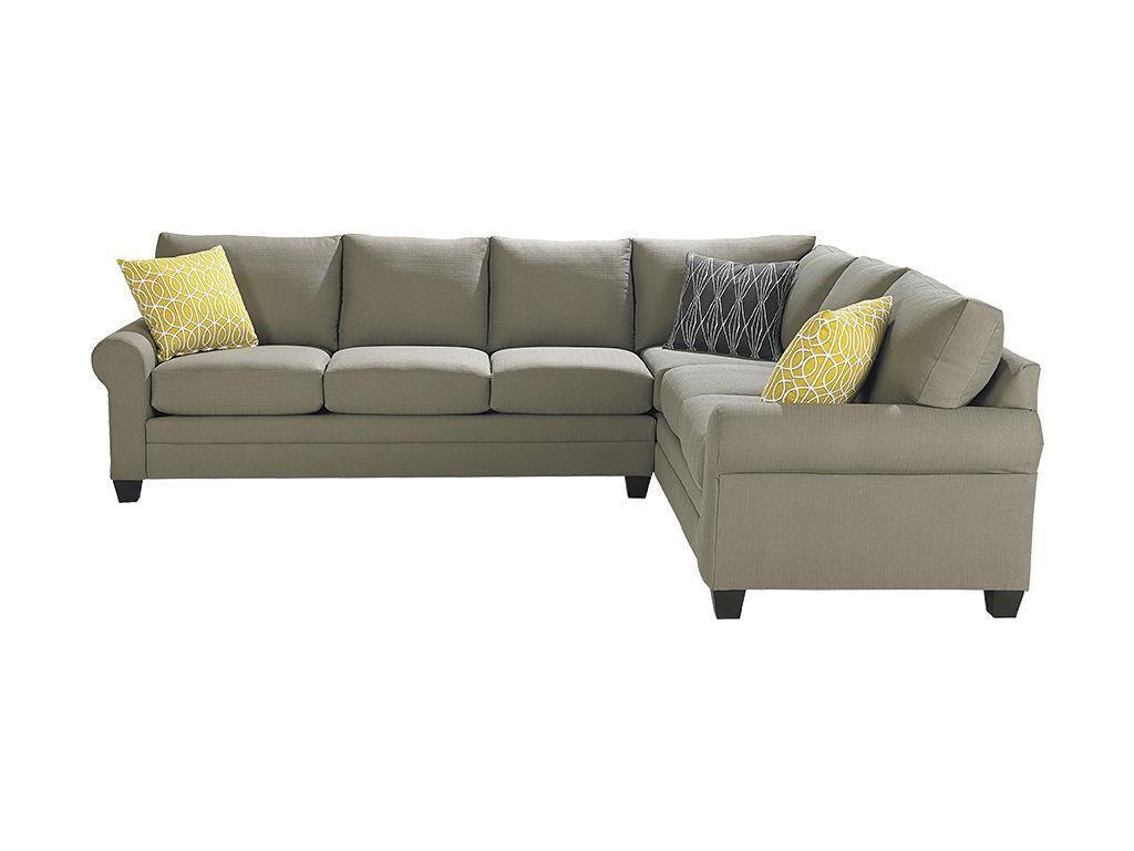 Bassett Large L Shaped Sectional 3851 Llsect Living Room