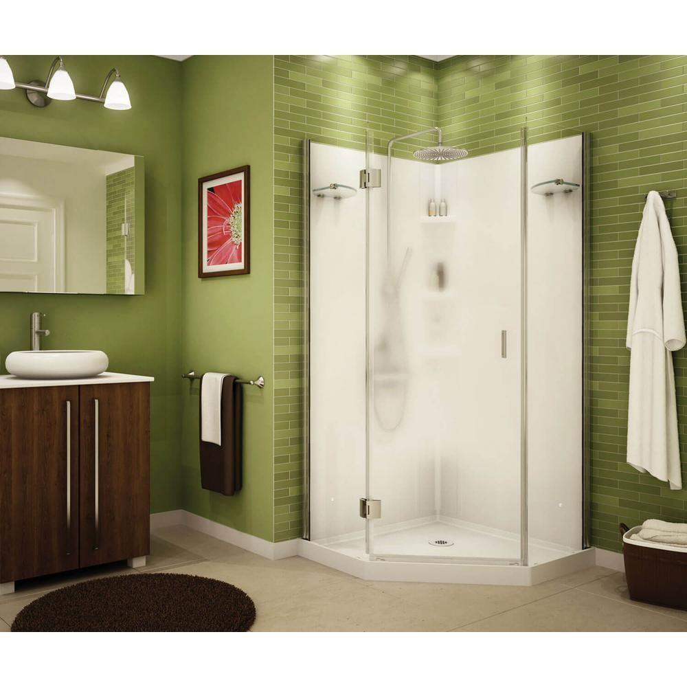 Maax Papaya 36 In X 36 In X 72 In Center Drain Corner Shower
