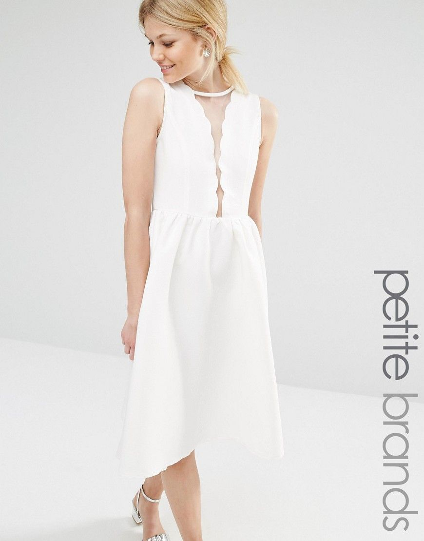 Image of boohoo petite scallop skater dress actual dresses i