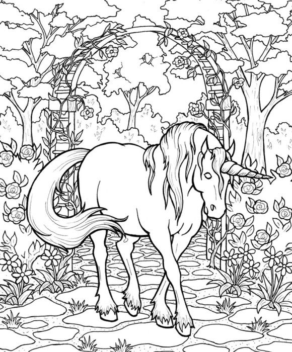 Mythical Horse Coloring Pages - I call that a Unicorn! | découpage ...