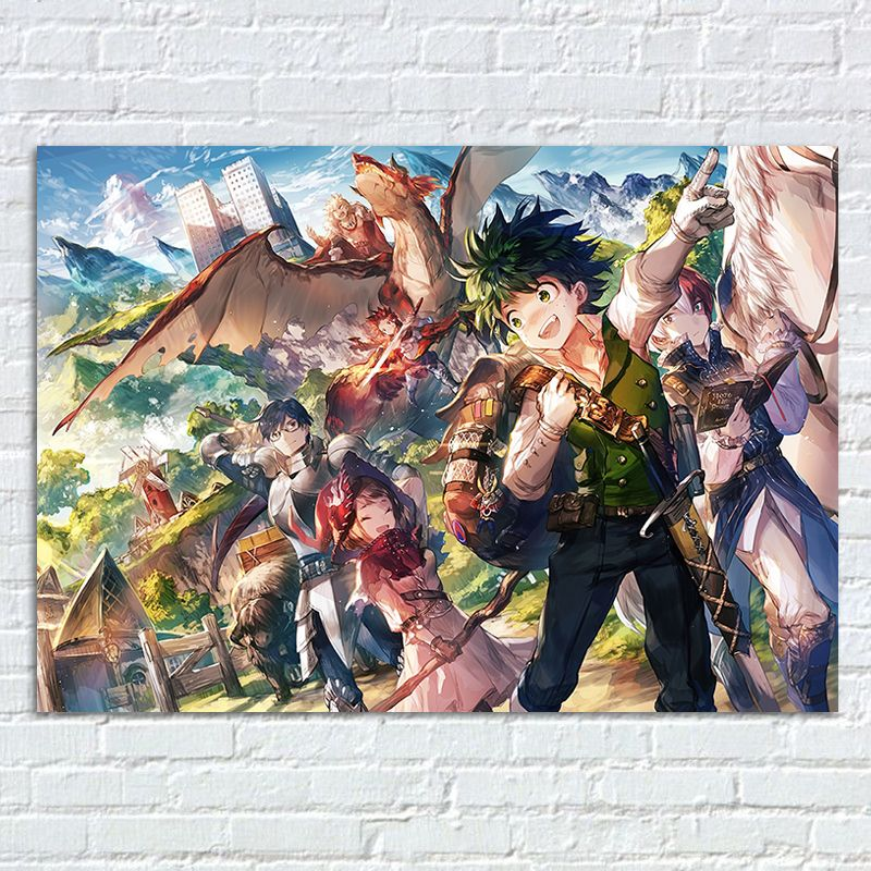 My Hero Academia Wall Poster Boku No Hero Academia Canvas Prints