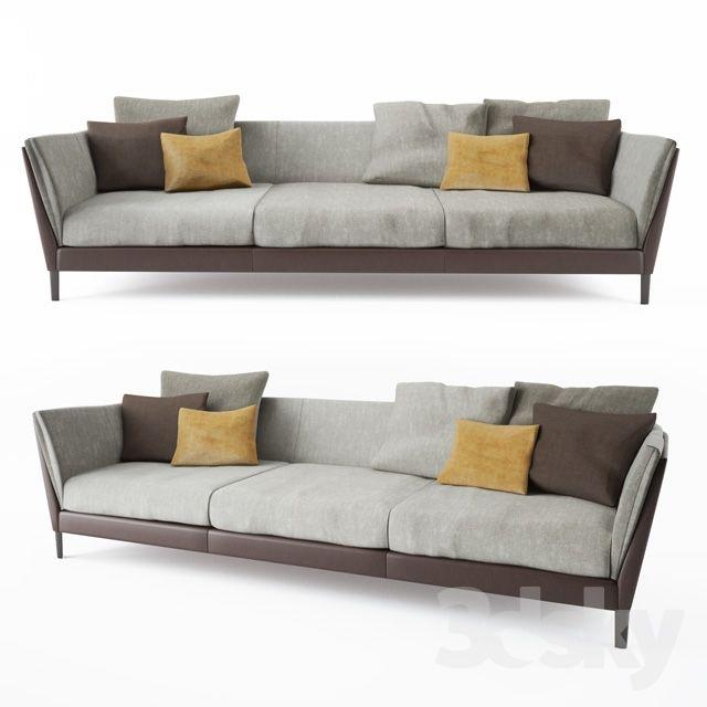 3d Models Sofa Poltrona Frau Bretagne Sofa 3 Seater Sofa Design Sofa Sofa Furniture