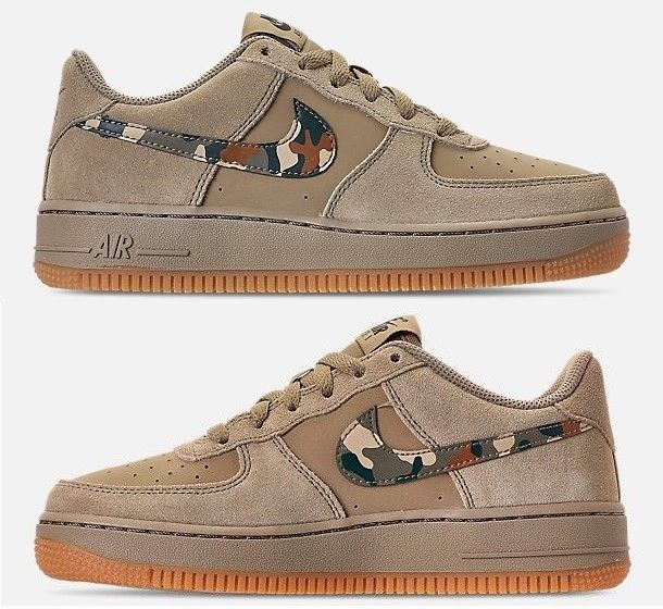 newest bcb06 f692c NIKE AIR FORCE 1 LOW YOUTH CASUAL NEUTRAL OLIVE - BLACK - MEDIUM OLIVE  AUTHENTIC  fashion  clothing  shoes  accessories  kidsclothingshoesaccs   boysshoes ...