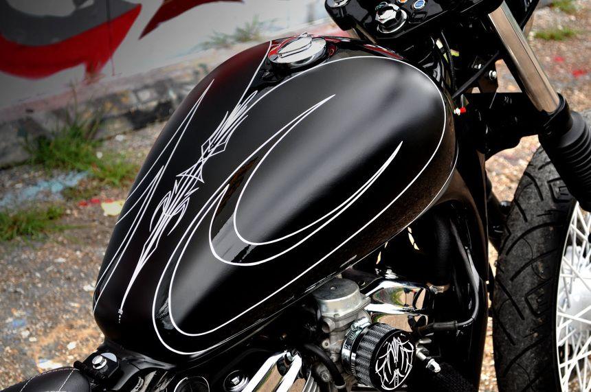 HRB'S FELON HOUSTON RETRO BOBBERS Motorcycle tank