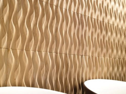 3d Stone Wall Tile Wavy Pattern Sandstone Wave Bioprot