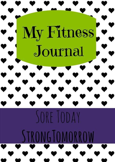 Fitness Journal Cover Page #fitnessmotivation #fitness #motivation
